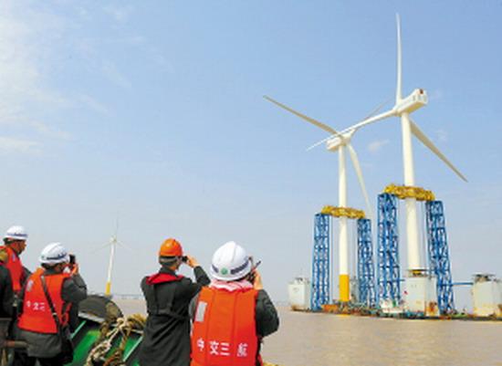 上海东海大桥100兆瓦海上风电示范项目